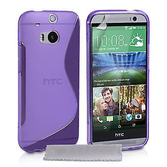 Caseflex HTC One M8 Silicone Gel S-Line Case - Purple