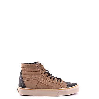 Vans men's MCBI306017O brown suede leather Hi Top sneakers
