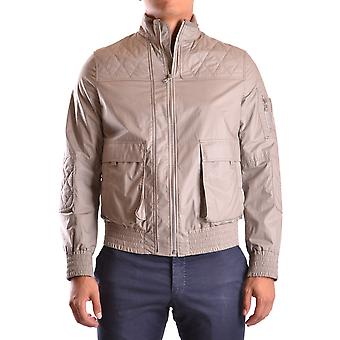 Neil Barrett men's MCBI220030O beige nylon jacket