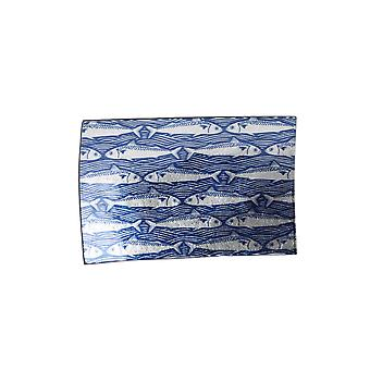 CGB Giftware Harbour Blue Fish Small Rectangular Glass Plate