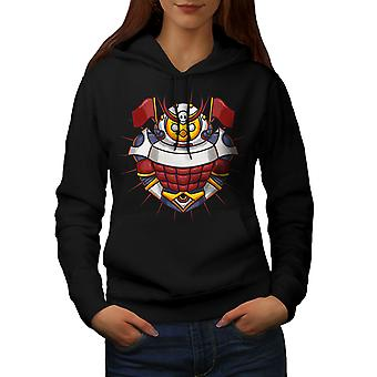 Knight Colorful Women BlackHoodie | Wellcoda