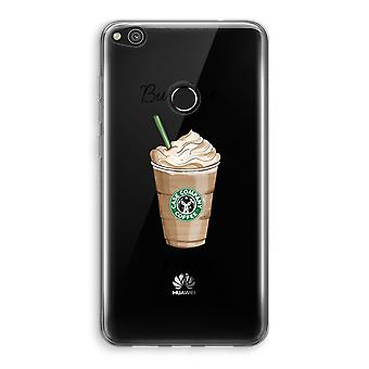Huawei Ascend P8 Lite (2017) Transparant Case - But first coffee