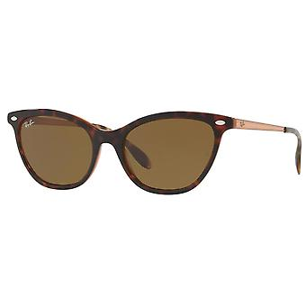 Ray Ban Sunglasses 0rb4360 1233/73 54 Tortoise And Bronze Copper Woman's Sunglasses