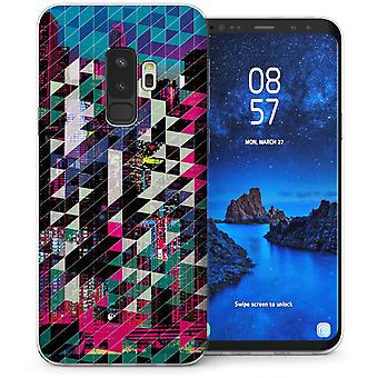 Samsung Galaxy S9 Plus Digital City Skyline TPU Gel Case – lila