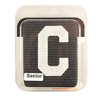 Captains Armband Big C Style Black Senior