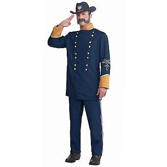 Union Officer Civil War Soldier Uniform Military Colonial Men Costume Plus