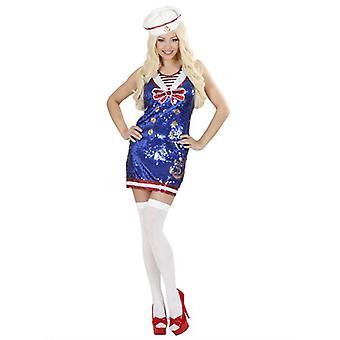 Marinero niña lentejuelas (sombrero de vestido)