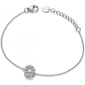 Cavendish French Dancing Cubic Zirconia Star Bracelet - Silver