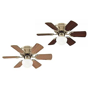 Ceiling fan Petite antique brass with pull cord 76 cm / 30