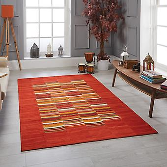 Navajo Stripe Red  Rectangle Rugs Traditional Rugs