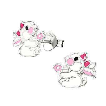 Rabbit - 925 Sterling Silver Colourful Ear Studs - W26295x