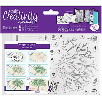 Creativity Essentials A6 Clear Stamps-Build A Tree