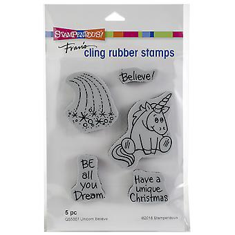 Stampendous Cling Stamp -Unicorn Believe