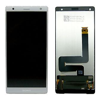 Sony Display LCD Komplett Einheit für Xperia XZ2 H8266 Silber Ersatzteil Neu