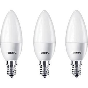Philips Lighting LED EEC A+ (A++ - E) E14 Candle 5.5 W = 40 W Warm white (Ø x L) 35 mm x 104 mm 3 pc(s)