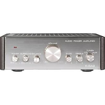 Renkforce E-SA9 Stereo amplifier 2 x 12 W Silver (metallic), Dark brown