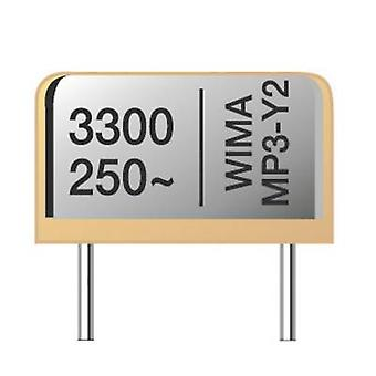 Wima MPY20W1220FA00MSSD MP3-Y2 suppression capacitor Radial lead 2200 pF 20 % 10 mm (L x W x H) 13.5 x 4 x 8.5 mm 1 pc