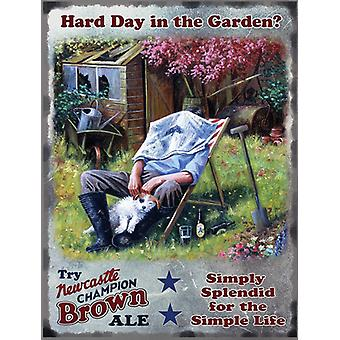 Newcastle Brown Ale Gardener Medium Size Metal Sign 300Mm X 200Mm