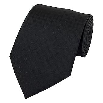 Neck tie necktie ties Binder 8cm uni black checkered Fabio Farini