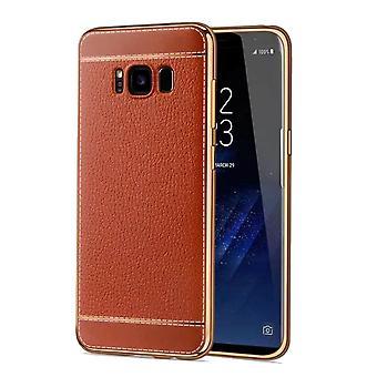 Teléfono celular del caso para Samsung Galaxy S8 plus estuche + bolsa de piel sintética marrón