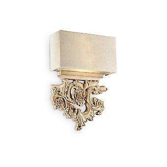 Ideal Lux Designer Peter Twin Wall Light, Rich Gold
