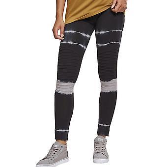 Urban classics ladies - tie dye biker Leggings Black