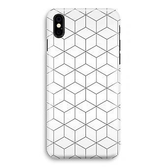 iPhonegeval XS volledige Print (Glossy) - kubussen zwart-wit