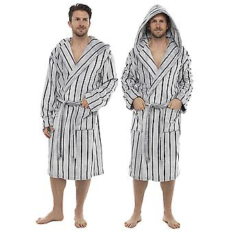 Tom frankerne Herre forskydes stribe hætteklædte Morgenkåbe slåbrok
