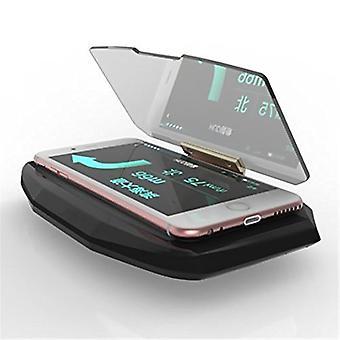 ONX3 Head Up Display Projector Universal Car HUD Holder Bracket Display Image HD Reflector for HTC U11 Plus , HTC U11 Life Mobile Phone GPS Navigation