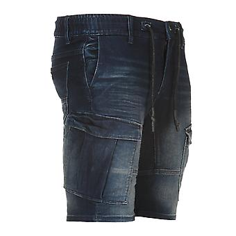 URBAN SURFACE men's cargo sweat denim pants of shorts blue
