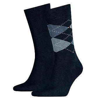 Tommy Hilfiger 2 Pack Check Sock - Jeans