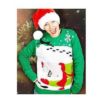 Men costumes  Ugly christmass sweater Mss. Claus and Rudolph