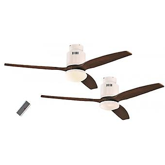 Ceiling Fan Aerodynamix White / walnut with and without lighting