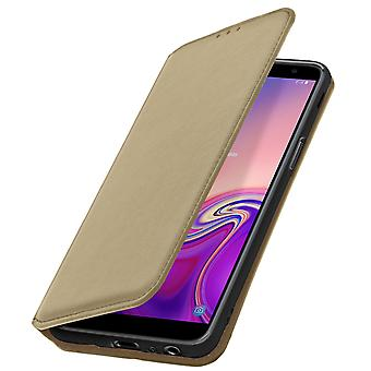 Slim Case, Classic Edition stand case with card slot for Galaxy J6 Plus - Gold