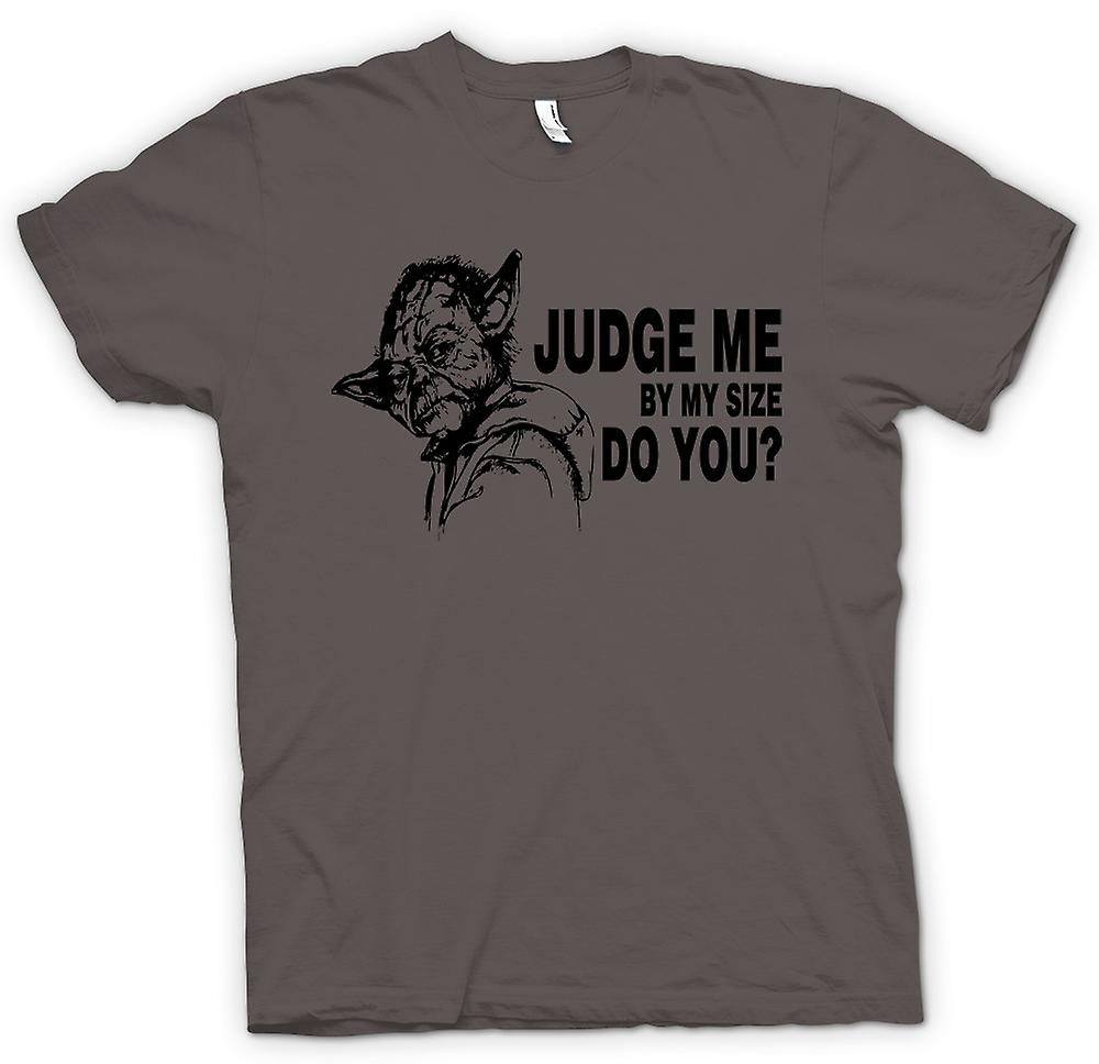 Mens T-shirt-Funny juge Me - Star Wars - Yoda