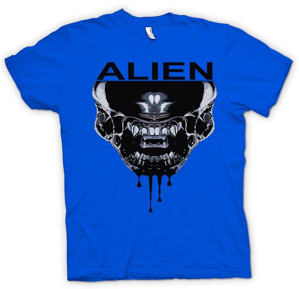 Mens T-shirt - Alien Face - Sci Fi - Pop Art