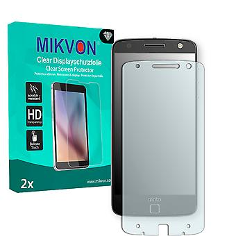 Lenovo Moto Z Screen Protector - Mikvon Clear (Retail Package with accessories) (reduced foil)