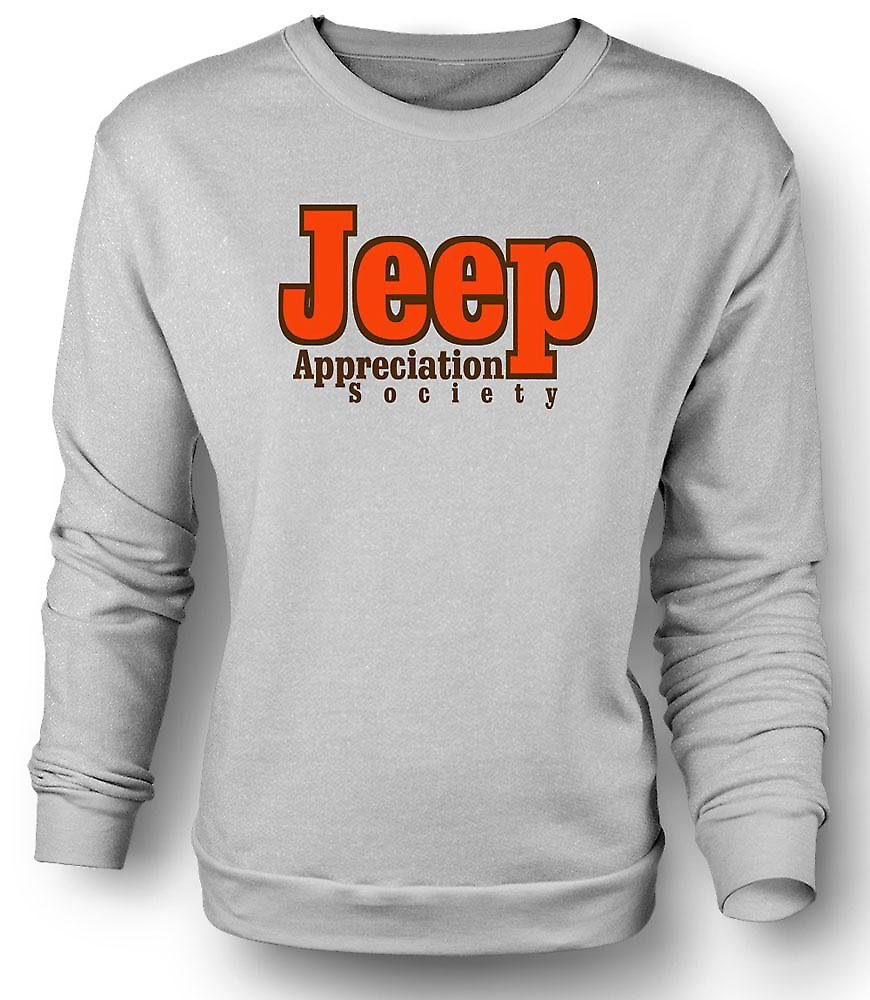 Mens Sweatshirt Jeep Appreciation Society