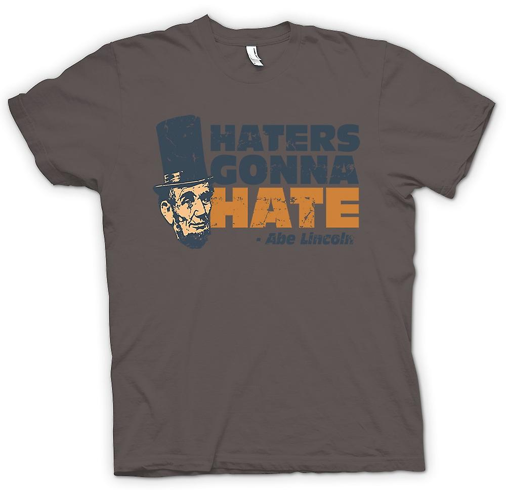 Mens T-shirt - Haters kommer til hat - Abe Lincoln