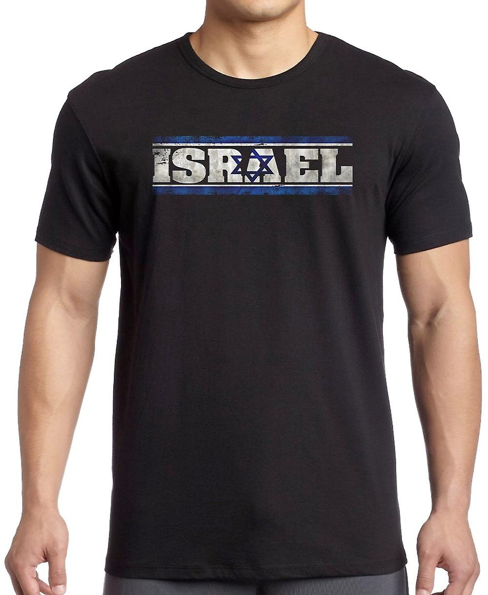 Isreali Isreal Flag - Words T Shirt  - 4xl