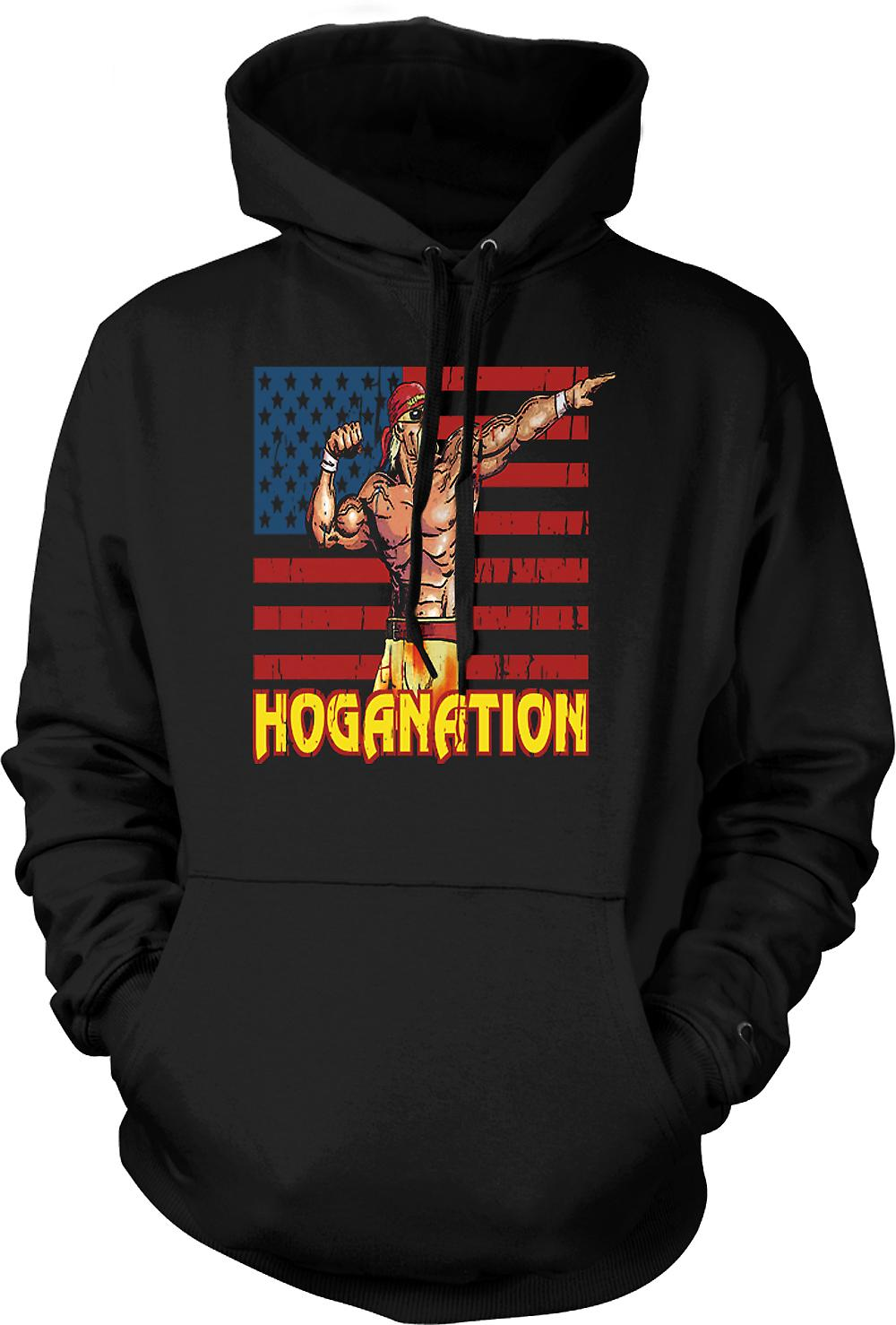 Mens Hoodie - Hoganation - Hulk Hogan US Flag