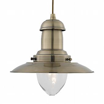 4301AB Fisherman Pendant Ceiling light, Antique Brass Lantern