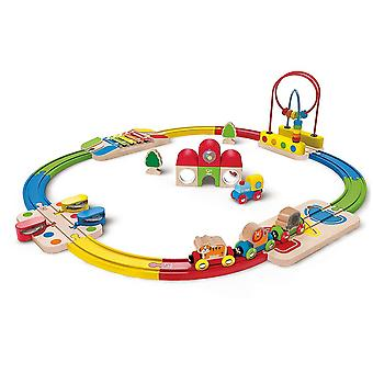 Hape - Rainbow Route Railway & Station Set - Houten trein