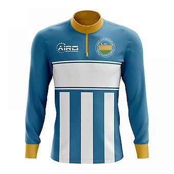 Karakalpakstan Concept Football Half Zip Midlayer Top (Sky Blue-White)