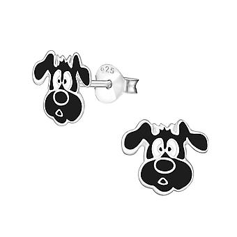 Dog - 925 Sterling Silver Colourful Ear Studs - W4972X