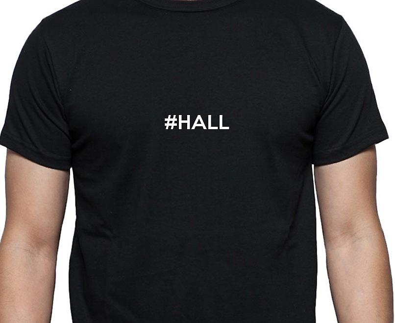 #Hall Hashag Hall Black Hand Printed T shirt