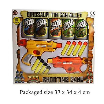 Dinosaur Tin Can Alley Soft Safe Darts Shooting Game