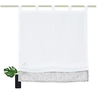 My home Raffrollo »Camposa« transparent mit Schlaufen weiß H/B: 140/45 cm