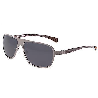 Reproduire l'ambiance titane et fibre de carbone Polarized lunettes de soleil-Gunmetal/Black
