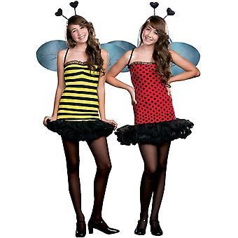 Abelha/Lady Bug traje adolescente